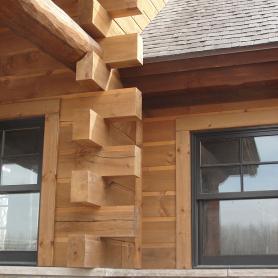 WoodHaven butt-'n'-pass Adirondack corners
