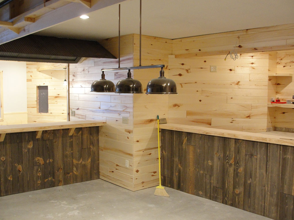 Custom Barn Wood Paneling Bar
