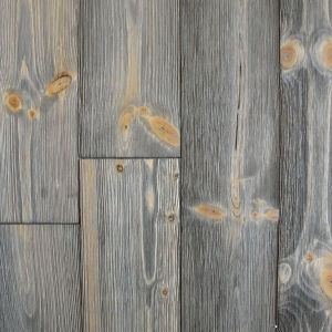 Close-up of our barn wood wall
