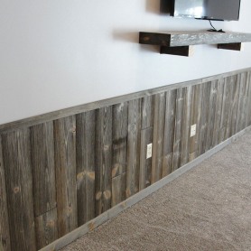 Custom barn wood paneling