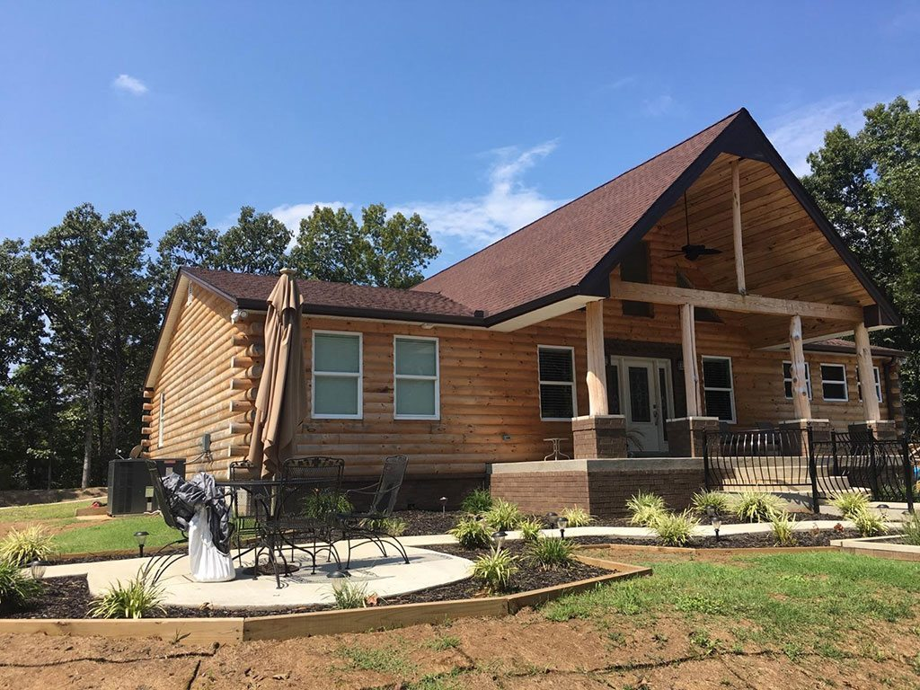 Log Cabin Like Siding Log Cabins Log Cabins Cabins Long Wooden Bench With