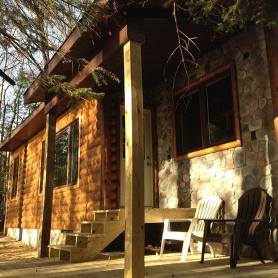 3x8 White Pine Half Log Hewn Siding and Trim
