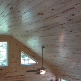 Aspen tongue and groove paneling