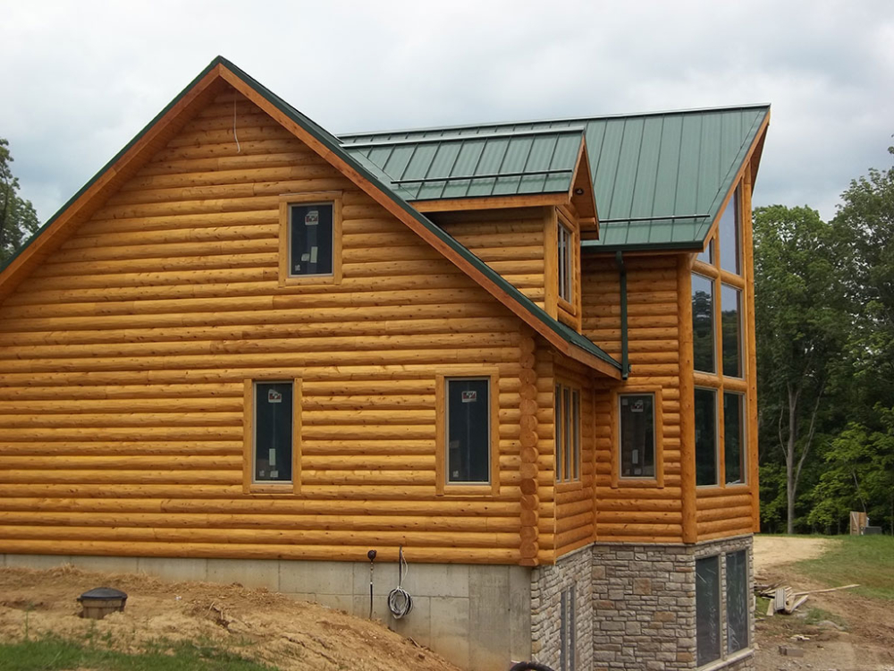 Fatboy log siding woodhaven log lumber for Log vinyl siding pictures