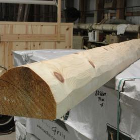 6x8 half log hewn