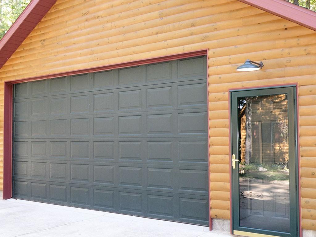 3x8 log siding hand hewn pine - Half Log Smooth Pine Log Siding Garage