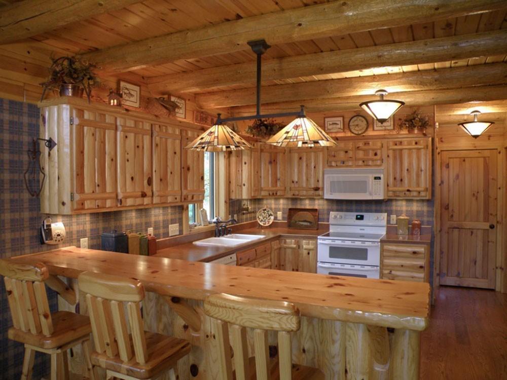 Knotty Pine Kitchen Island