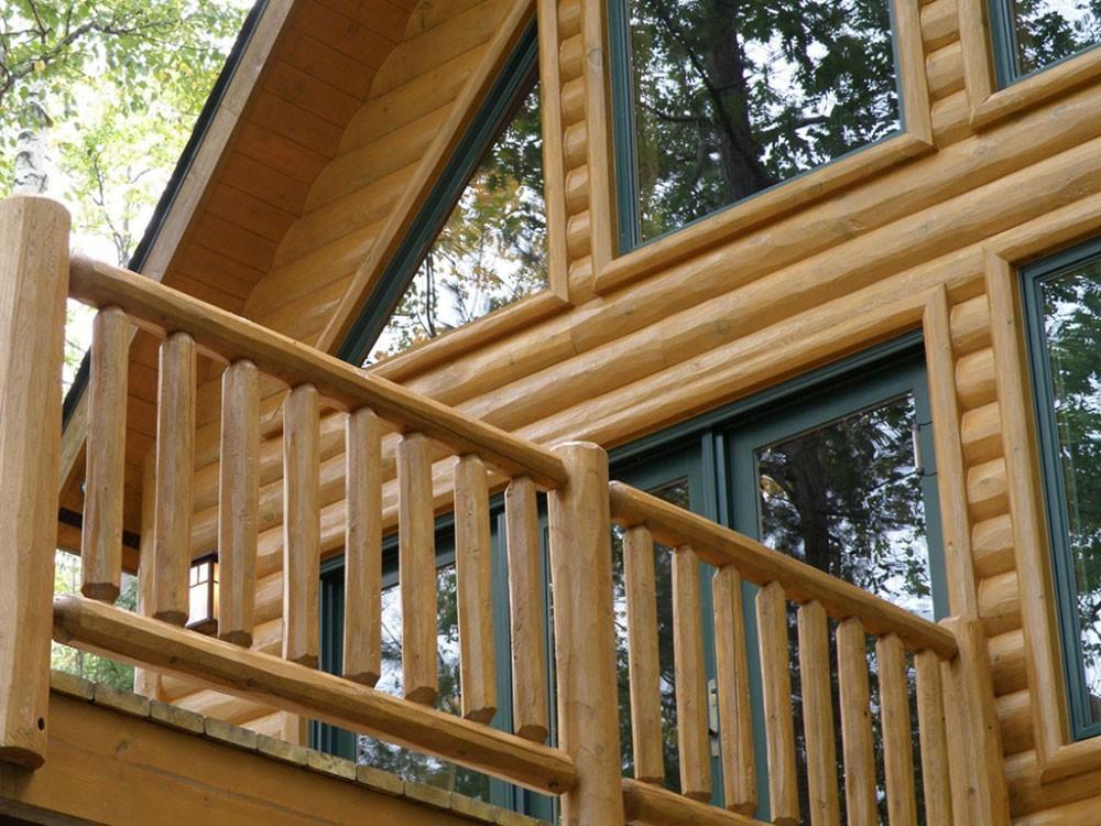 Pine Log Siding Woodhaven