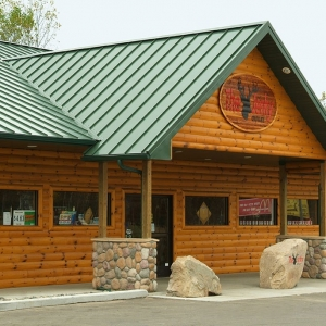 The Jerky Outlet with quarter log smooth siding