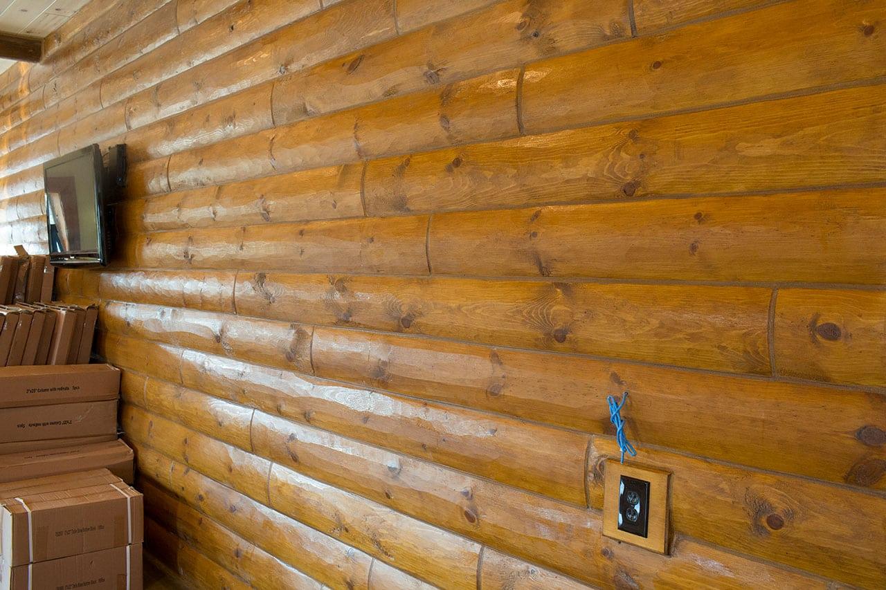 Quarter Log Siding Woodhaven