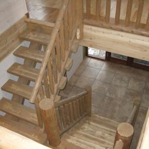 Half log staircase
