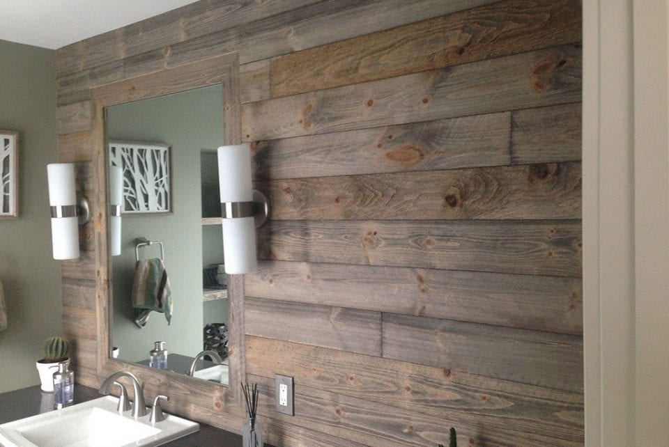 Barn wood tongue and groove paneling