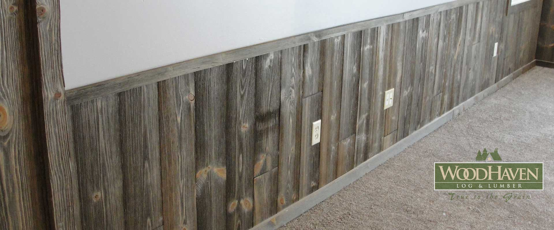 Awesome Half Log Siding Barn Wood With Wall Paneling
