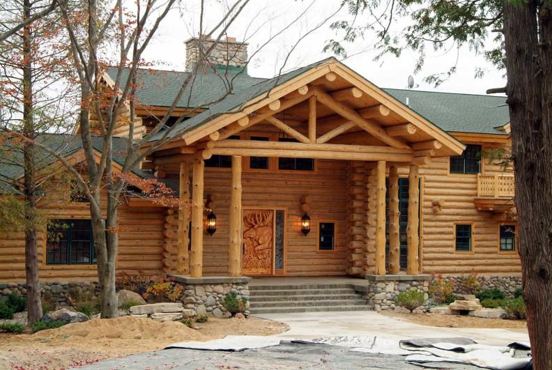 Half Log Siding Woodhaven Log Amp Lumber