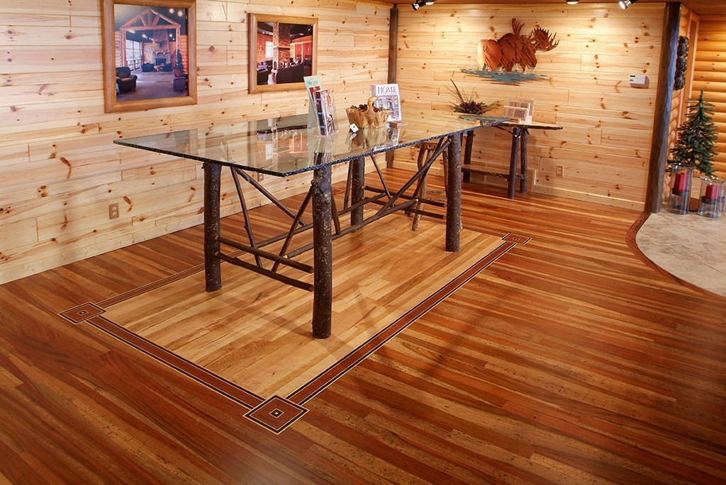 Tongue Amp Groove Mountain Cherry Hardwood Floor With Center